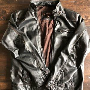 Men's Daniel leather biker jacket.